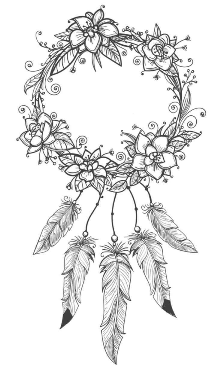 Dreamcatcher coloring page Coloring