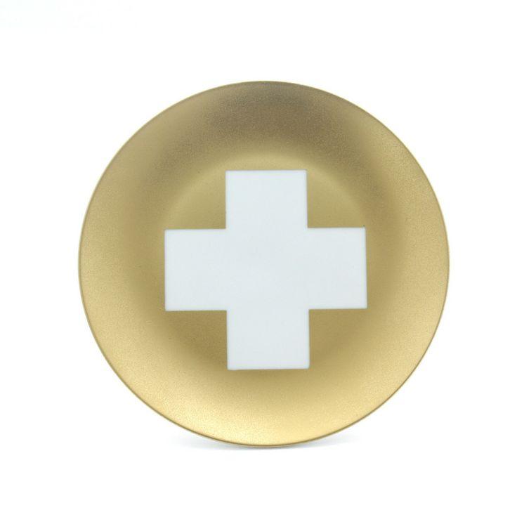 Gold Cross Plate www.cloudninecreative.co.nz