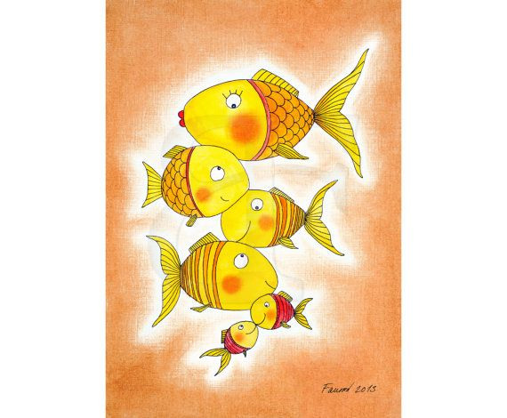 Group+of+happy+gold+fish by+Fausova