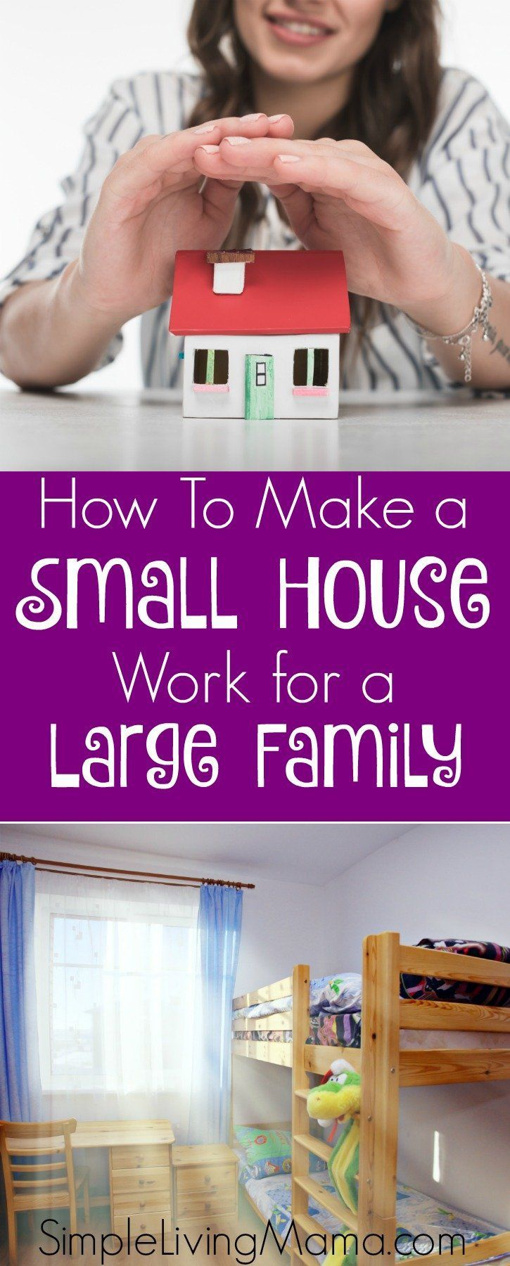 How To Make A Small House Work For A Large Family Simple Living Mama Small House Organization Large Family Organization Large Family