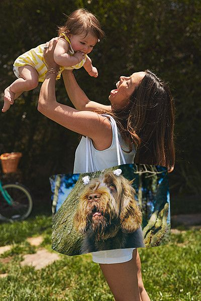"Brown Roan Italian Spinone Head Shot Weekender Tote Bag (24"" x 16"") by Heidi Anne Morris.  The tote bag is machine washable and includes cotton rope handle for easy carrying on your shoulder.  All totes are available for worldwide shipping and include a money-back guarantee."