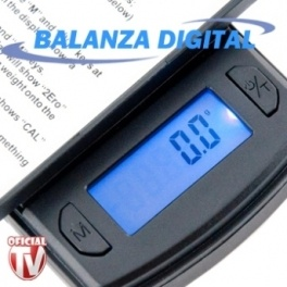 Balanza Digital de Precisión Myco - Bascula Digital Portatil - Pesos Electronicos Digitales | Cocina y Hogar www.OficialTV.com Teletienda Internacional
