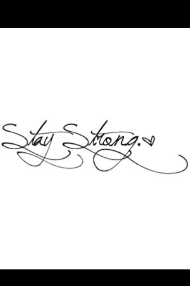 Stay Strong ❥ my first tattoo