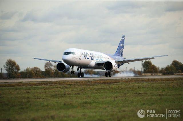 Транспортный блог Saroavto: Новый самолет МС-21-300 прилетел из Иркутска в Жук...