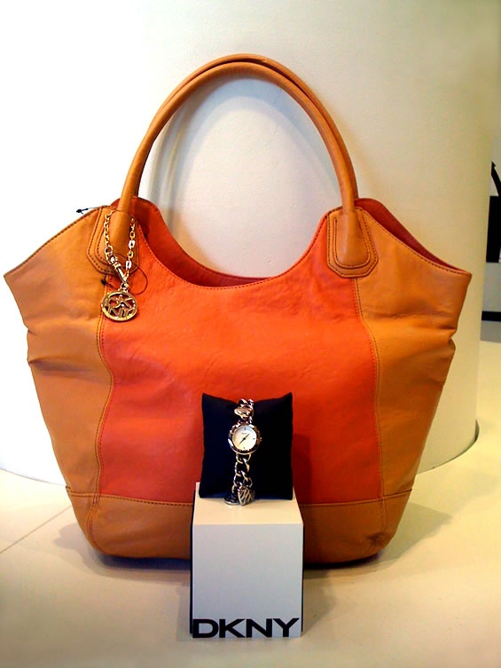 This designer handbag and watch from DKNY are May 10th's prize for the South Granville Mother's Day Contest!