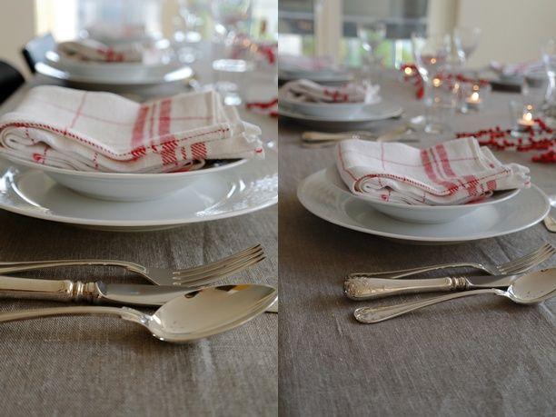 Mrs Sunshine: Tidig morgon och dukat bord - Fransk middag del 1 swedish grace, silver, gamla linnehanddukar