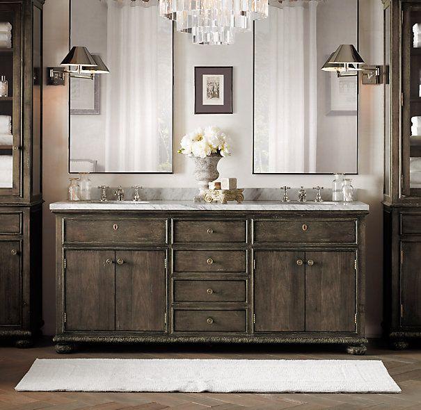 17 best ideas about restoration hardware bathroom on for Restoration hardware vanities bath