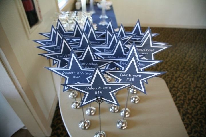 Dallas Cowboys Wedding Centerpieces
