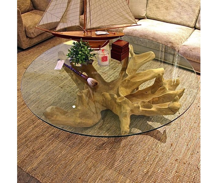 1000 images about drift wood tree stumps twigs etc on Tree trunk coffee table glass top
