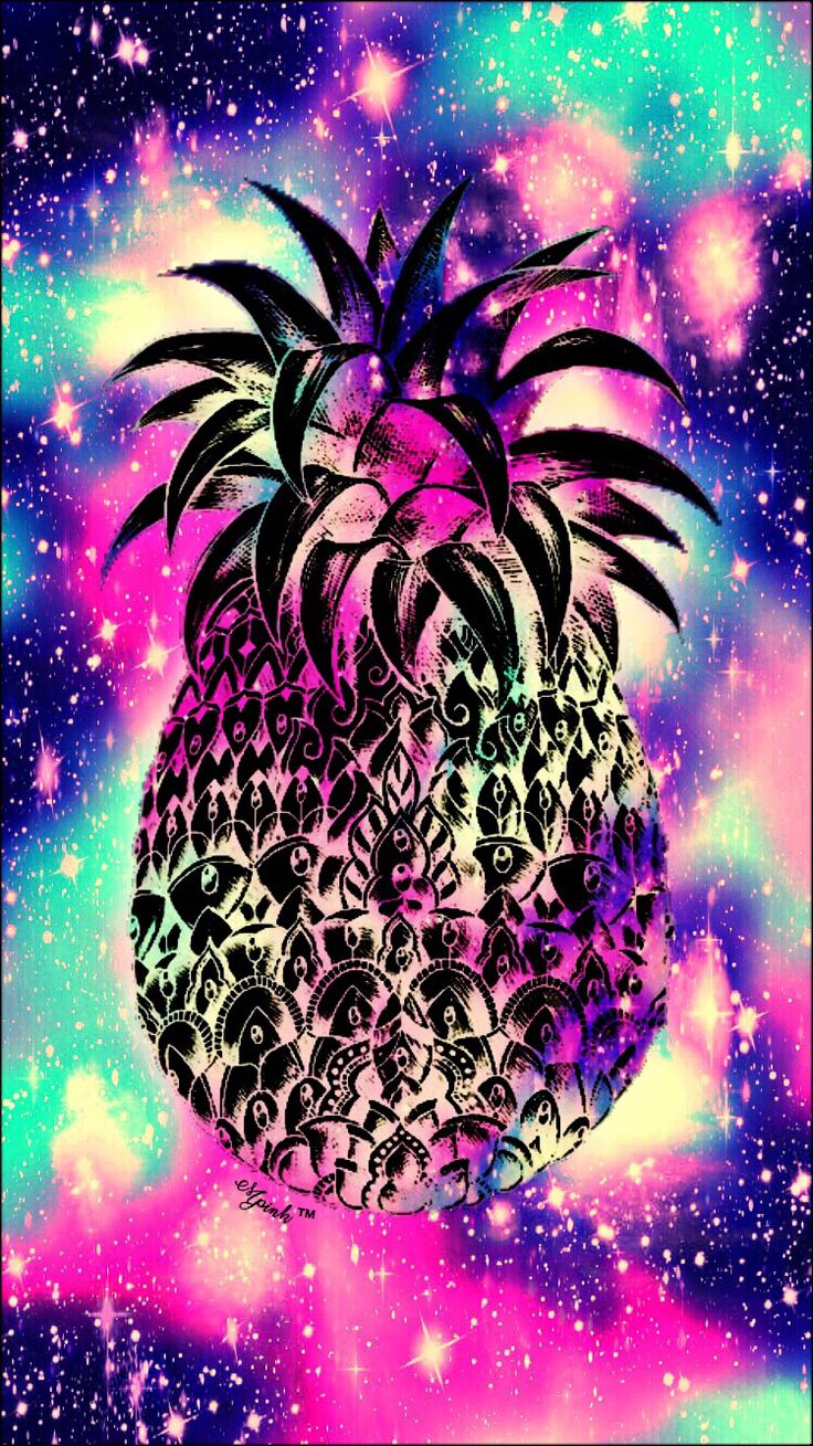 Galaxy Midnight Pineapple Wallpaper Lockscreen Girly, Cute