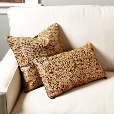 Cheetah Hair   on   Hide Pillow   Ballard Designs