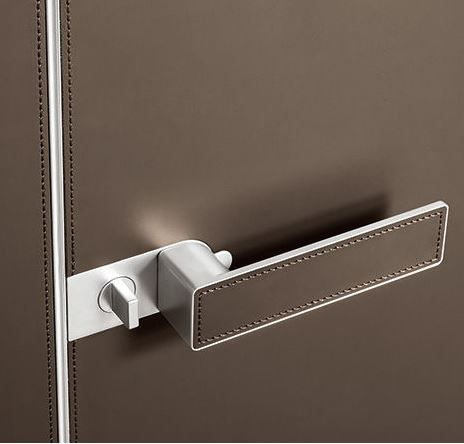 New from Rimadesio: leather upholstered doors! #leather #doors #rimadesio #hauteliving #chicago
