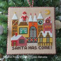 Gera! Kyoko Maruoka - Le Père Noël arrive (II) (grille de broderie point de croix)