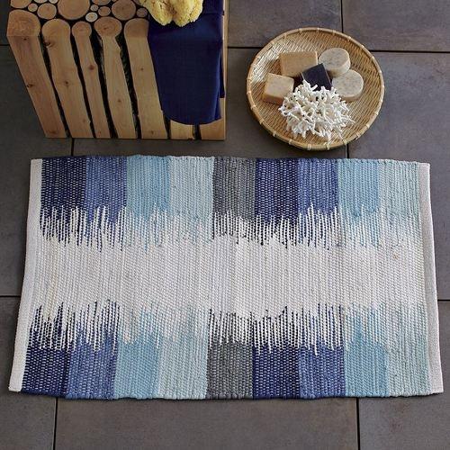 Lovely rug    www.designsponge.com/2012/04/summery-blues.html