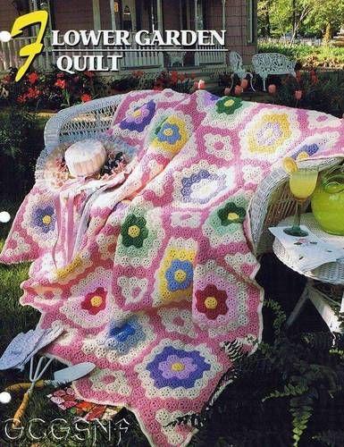 Annie's Attic crochet pattern Flower Garden Quilt