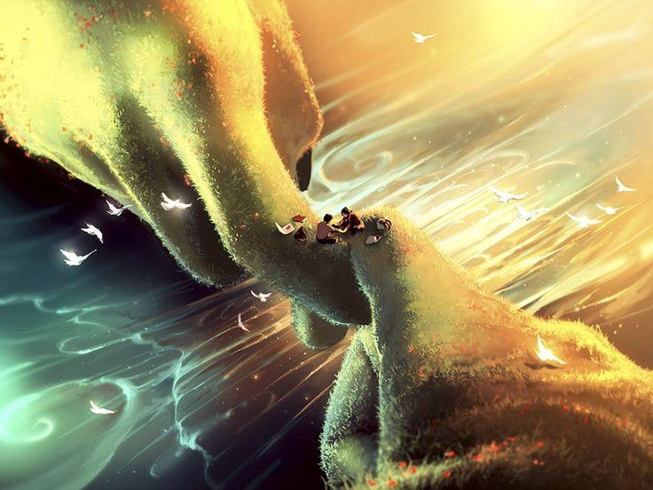 Ciryl Rolando dibujos inspirados en Hayao Miyazaki Tim Burton 11