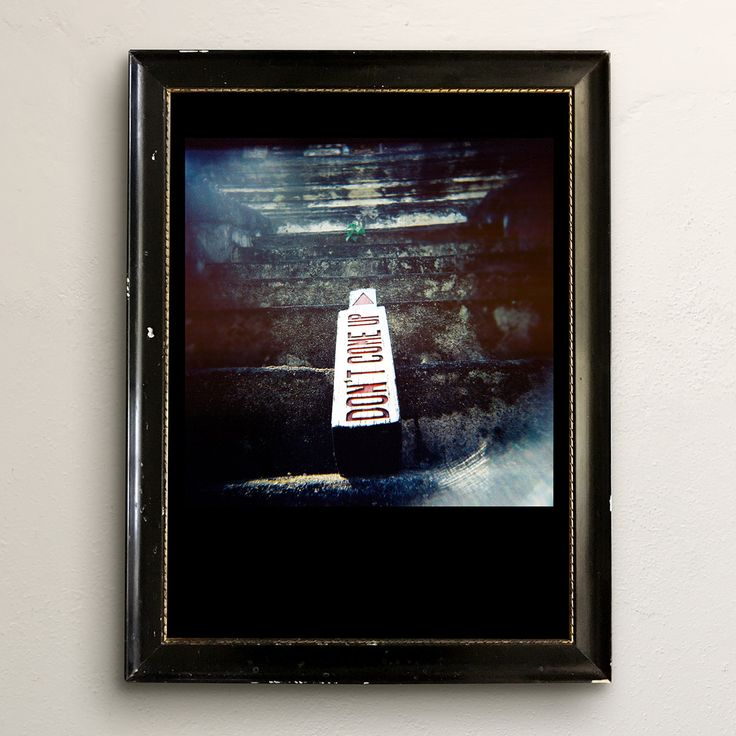 don't come up – #holgagraphy in old frame.  chris corrado 2013