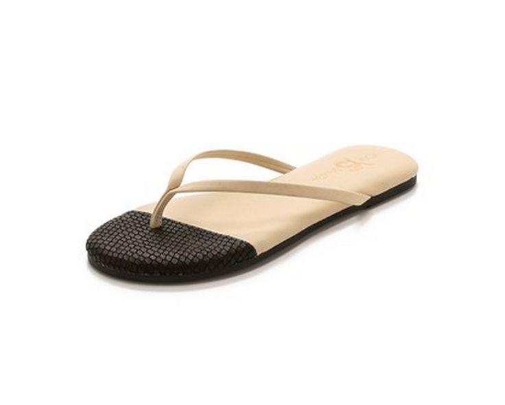 LulaMae Boutique - Yosi Samra Roee Cap Toe 3D Snake Flip Flops, $55.00 (http