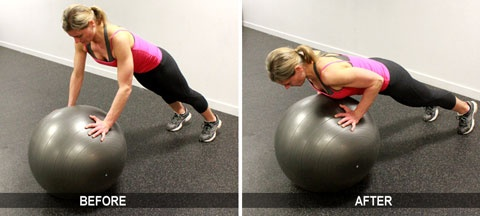 Stability Ball Pushups