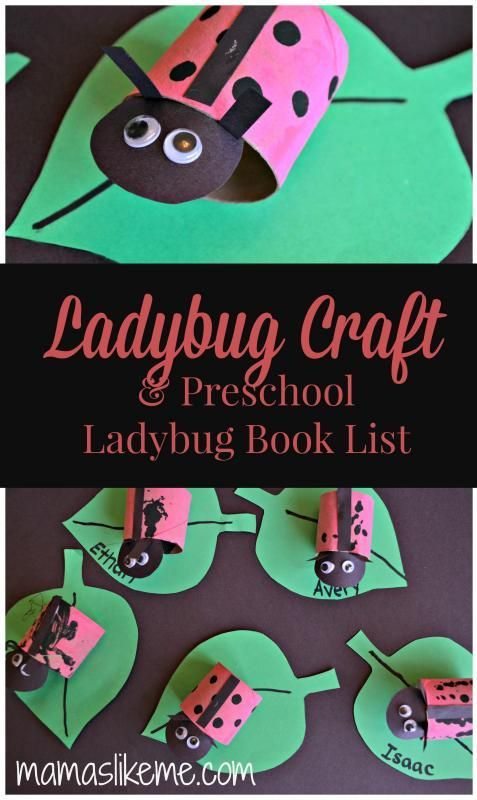 Toilet Roll #Ladybugs for #Preschool - and a list of Ladybug Books for preschoolers!