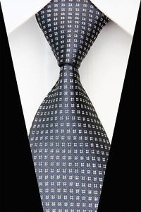 GA560 White Gray Floral Classic MEN'S Silk Woven Necktie TIE Casual   eBay