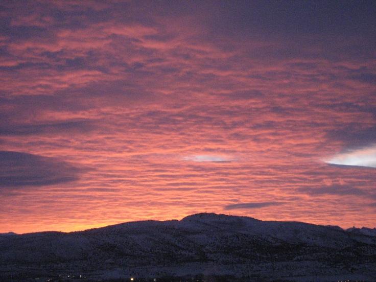 Sunrise over Elko, NV