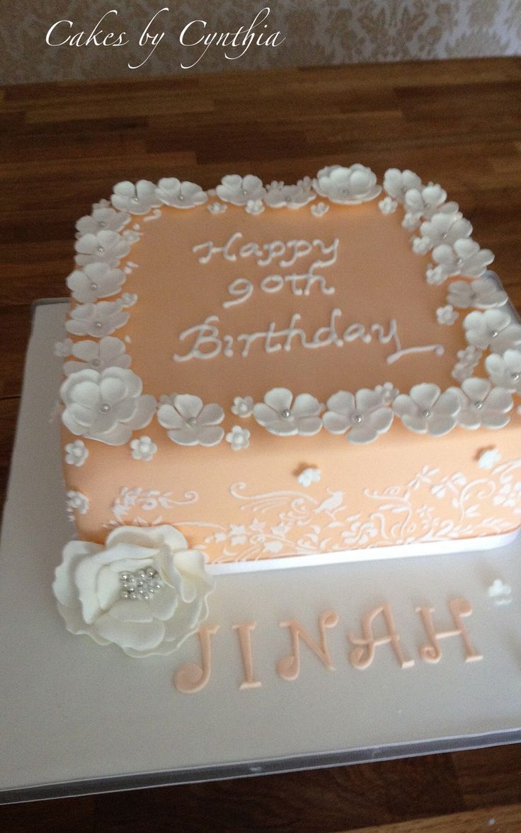 100 Best 90th Birthday Cakes Images By Elena Purton On Pinterest