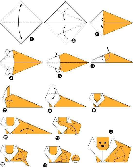origami leo facile                                                                                                                                                                                 Plus
