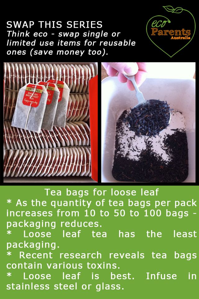 Did you know loose leaf tea is a much more eco friendly alternative to tea bags?