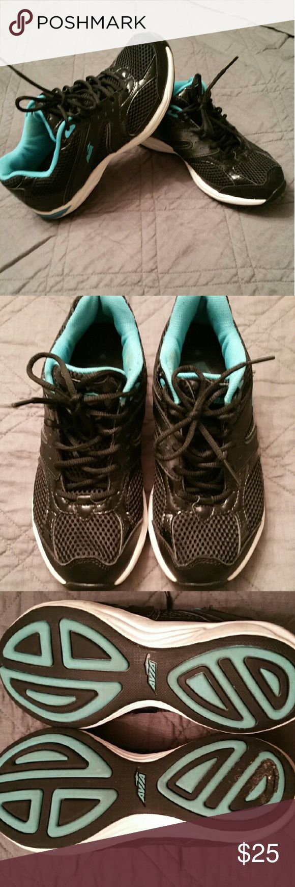 Sneakers Black and aqua running shoes like new only used a couple times Avia Shoes Sneakers