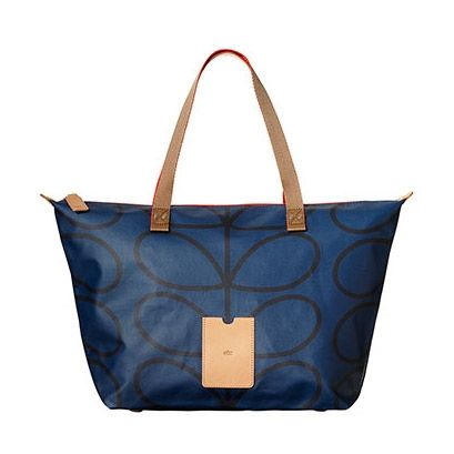 Orla Kiely ETC Giant Linear Stem Zip Shopping Bag Twilight