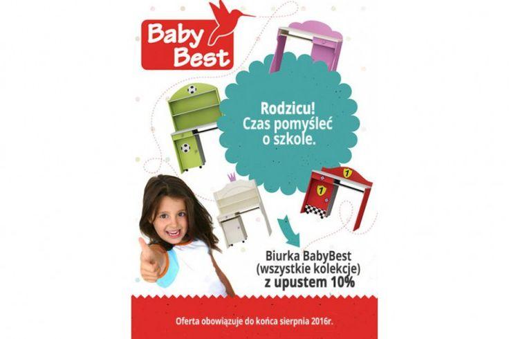 Zapraszamy do skorzystania z promocji na biurka dziecięce z firmy BABY BEST . Do końca sierpnia biurka tańsze o 10 %.  http://www.mega-meble.pl/promocja-334