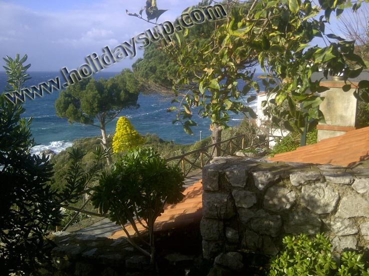 Villa with terrace sea view and beachfront in san montano - massa Lubrense Holiday booking sorrento villas rentals