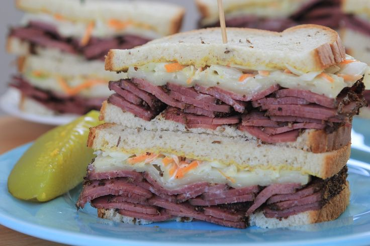 swiss sandwich recipes dishmaps snarf s pastrami and swiss sandwich ...