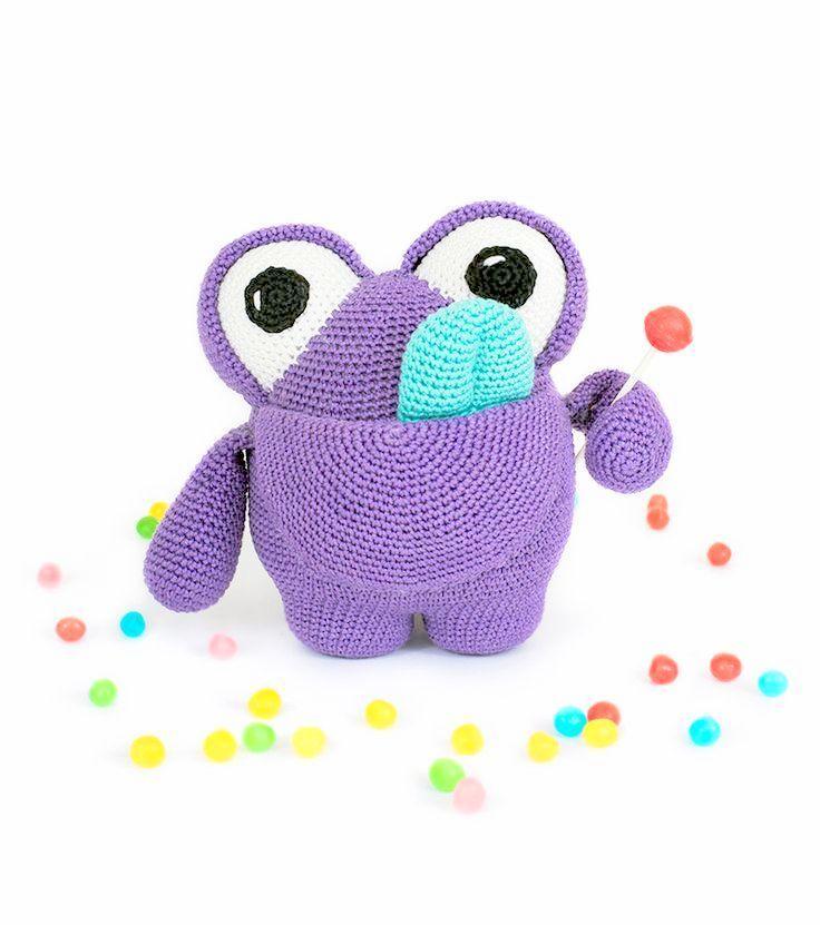 Roy the Rainbow Monster - crochet amigurumi pattern – Shiny Happy ... | 831x736