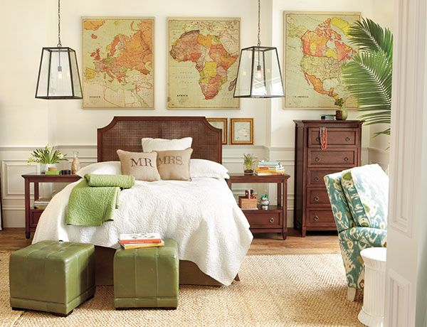 World travelers bedroom......love it but with diff colors