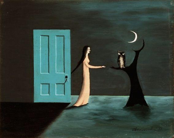 Gertrude Abercrombie (1909 - 1977) . Alice Through the Key Hole (1971)