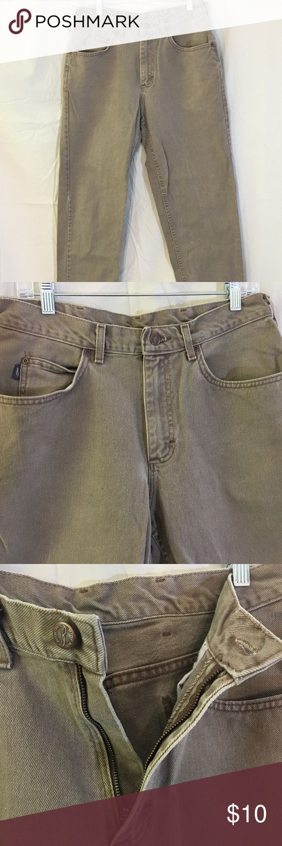 Denim Rider Tan Jeans Mens 34/30 Denim Rider Tan Jeans 34/30  •Size: 34/30   •Material: 100% cotton •Style: straight leg, classsic jeans regular cuff and waist fir. •In good previously owned condition. Riders by Lee Jeans Straight
