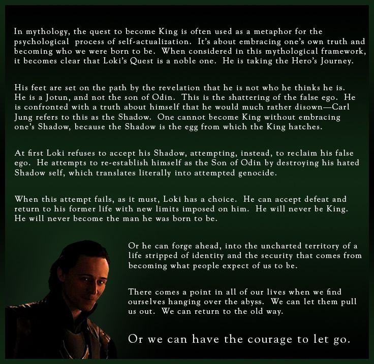 Loki's psychology (part 2) - Gee, Marvel thought of everything.