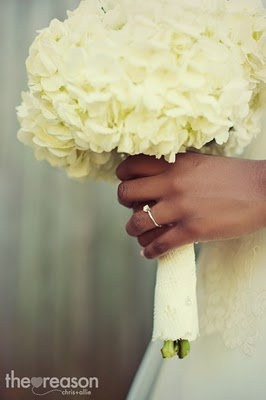 Simple White Hydrangea bouquet