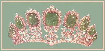 Tiara of The Princess Shahnaz of Iran. She is the oldest daughter of the Shah of Iran.
