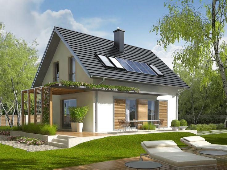 Projekt domu AC Lea (wersja A) - DOM AF1-65 - gotowy projekt domu