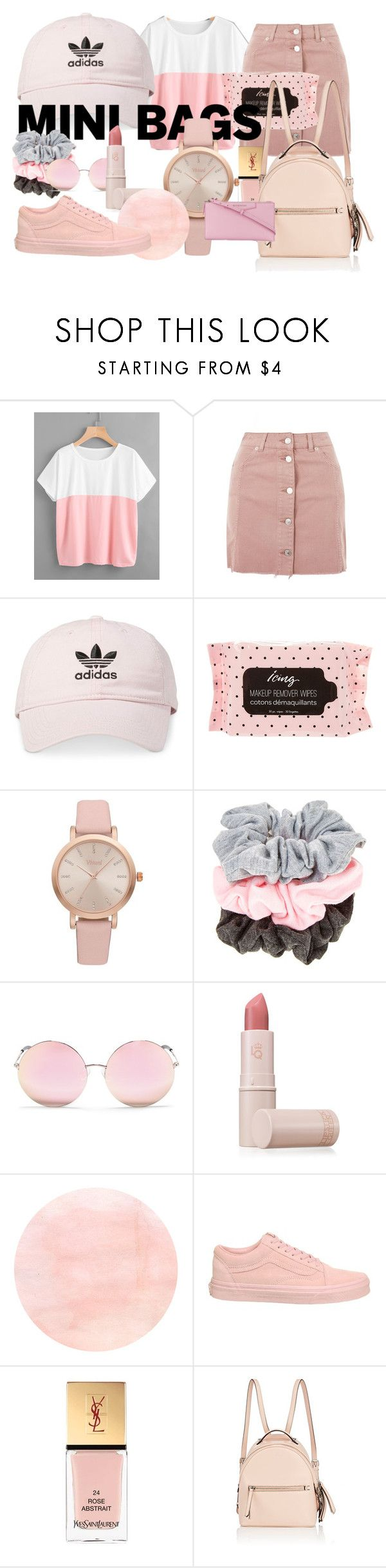 """""""too much pink? never"""" by makennafagrell ❤ liked on Polyvore featuring Topshop, adidas, Vivani, Matthew Williamson, Lipstick Queen, Vans, Yves Saint Laurent, Fendi and Givenchy"""