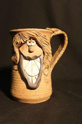 vintage funny face mug