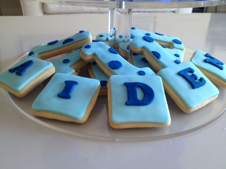 1st Birthday cookies for Aiden.