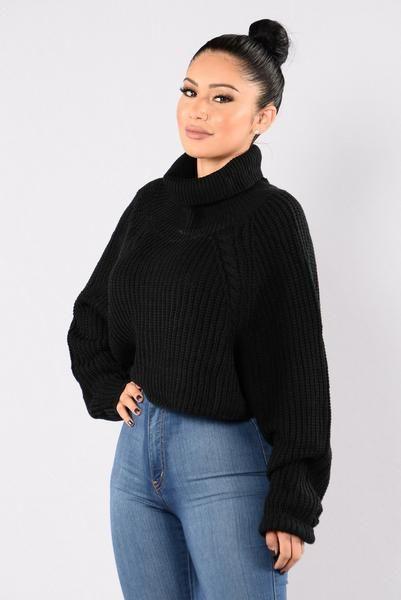 A Women's Worth Sweater - Black | Fashion Nova