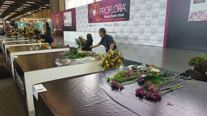 More #FloralDesign contests today at #Proflora2015!