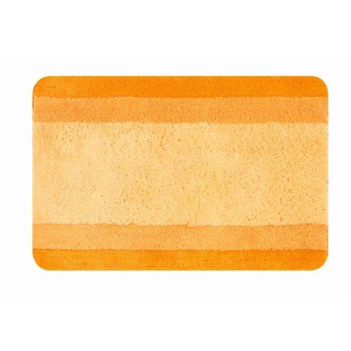 Spirella Tapis De Bain Balance 55x65 Cm Orange Tapis De Bain Tapis Et Tapis Tisse Plat