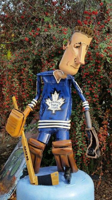 Toronto Maple Leaf hockey, 2371 Gravenstein Hwy S, Sebastopol, CA Patrick Amiot & Brigitte Lauren Junk Art. http://www.patrickamiot.com. #patrickamiot