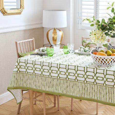 GREEN LATTICE TABLECLOTH AND NAPKIN - Tablecloths & Napkins - Tableware | Zara Home United Kingdom